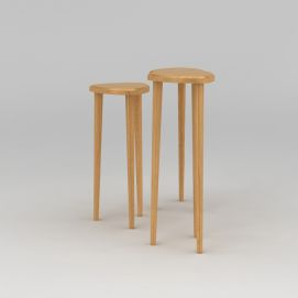 木质高脚凳模型