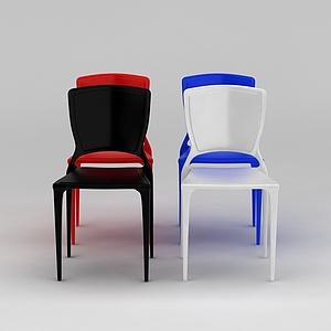 簡約家用餐椅模型