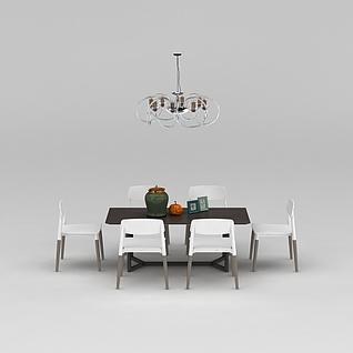 家用餐桌椅3d模型3d模型
