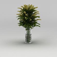 室内花瓶绿植3D模型3d模型