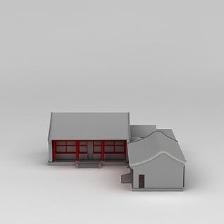 中式古典房子3d模型