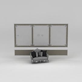 欧式沙发模型