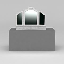 欧式梳妆镜3D模型