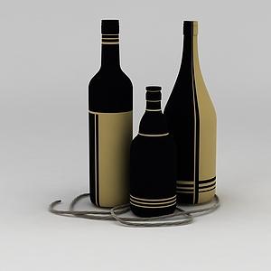 红酒瓶模型