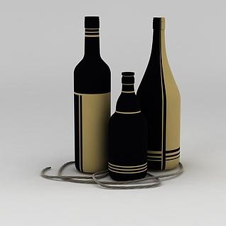 红酒瓶3d模型