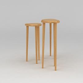 高脚凳模型