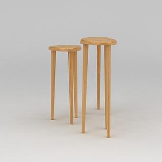 高脚凳3d模型