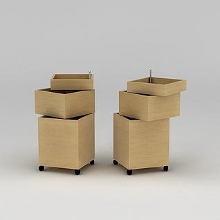 可移动收纳盒3d模型