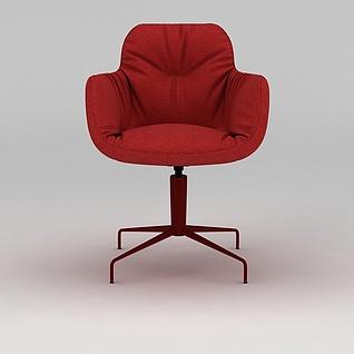 红色转椅3d模型3d模型