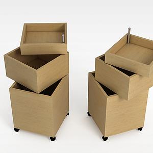可移动收纳盒模型
