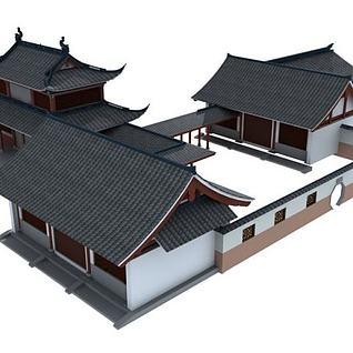 仿古南方建筑3d模型