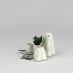 高级茶具模型