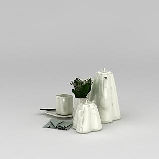高级茶具3d模型