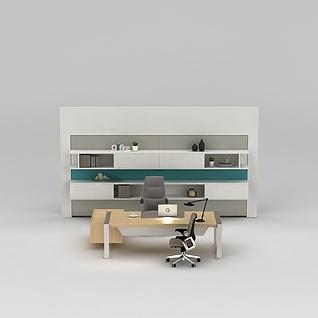 经理办公室办公桌椅3d模型