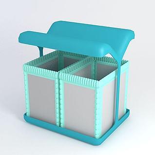 户外垃圾桶3d模型