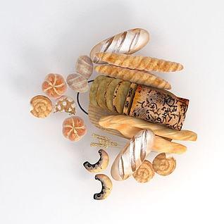 面包3d模型