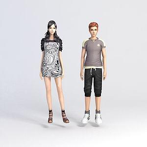 男人女人模型