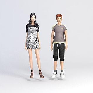 男人女人模型3d模型