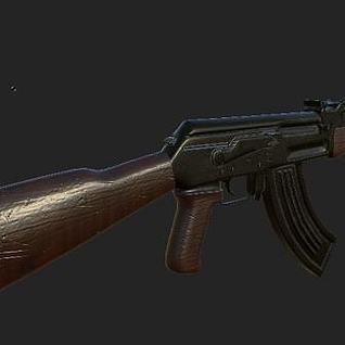 AK47枪械3d模型
