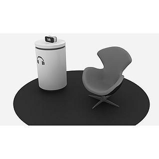 VR展示区3d模型3d模型