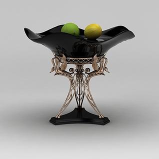 高档水果盘3d模型