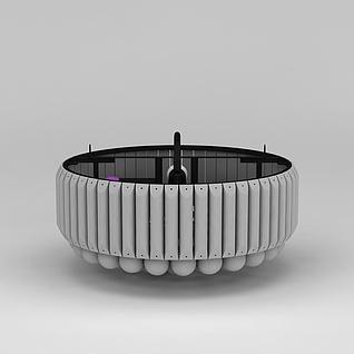 现代吸顶灯3d模型