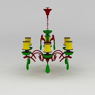欧式吊灯3d模型