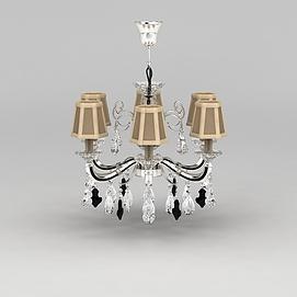 精美客厅吊灯3D模型