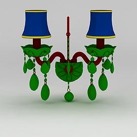 精美壁灯模型