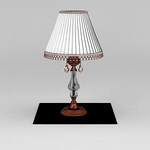 复古台灯模型