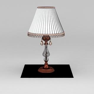 复古台灯3d模型