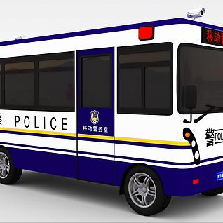 移动警务室3d模型