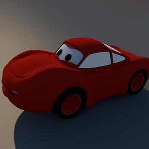 卡通汽車玩具模型3d模型