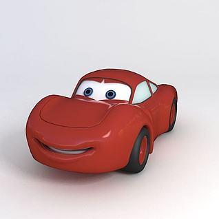 卡通汽车玩具3d模型