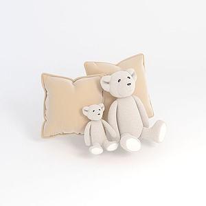 熊抱枕模型