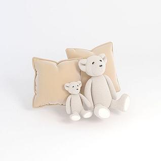 熊抱枕3d模型