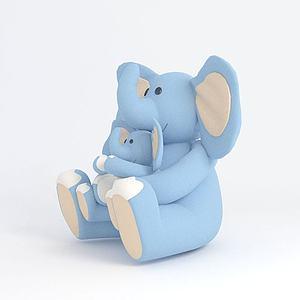毛绒玩具大象模型