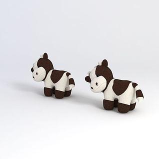 小奶牛3d模型