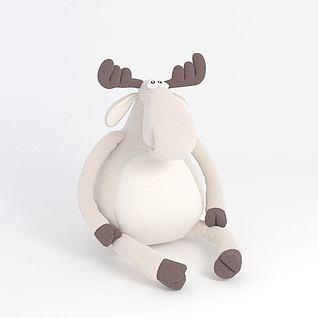 小羊玩偶3d模型
