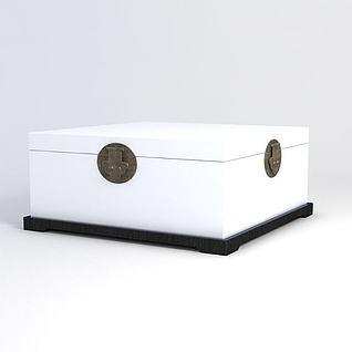 中式箱子3d模型