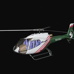 直升飛機3d模型