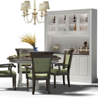 家用餐桌椅组合3d模型