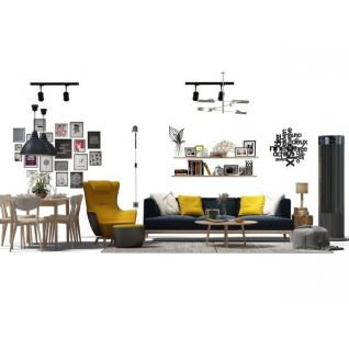 时尚沙发茶几组合3d模型
