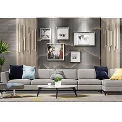 客厅沙发茶几组合3D模型3d模型