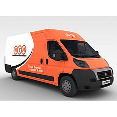 橙色快递车3D模型3d模型
