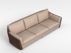 三人沙发模型3d模型