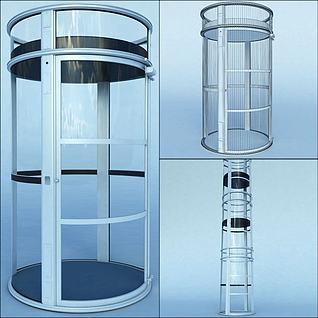圆形观光电梯3d模型