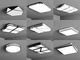 现代吸顶灯组合模型