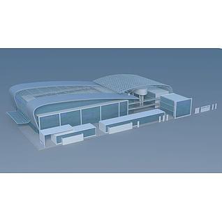 机场等候室3d模型