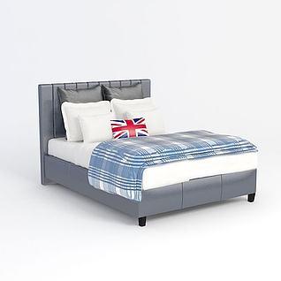 后现代床3d模型